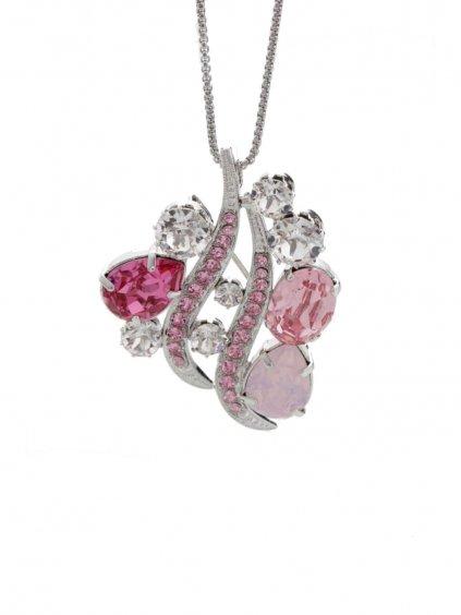 Náhrdelník Crystal Wave s kameny Swarovski® Rose