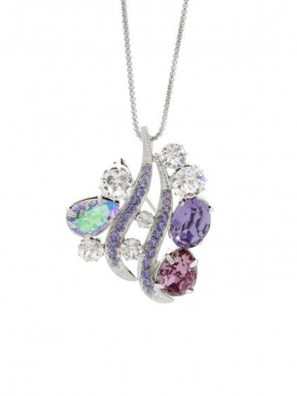 Náhrdelník Crystal Wave s kameny Swarovski® Violet