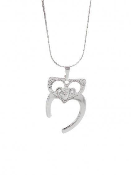 Náhrdelník Sova s kameny Swarovski® Crystal
