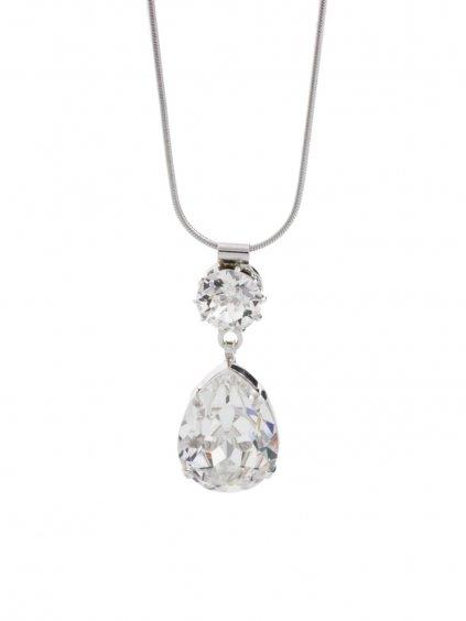J61300465CR Náhrdelník Drop s kameny Swarovski® Crystal