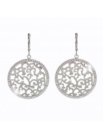 Ocelové náušnice Ornament s kameny Swarovski®  61400479cr