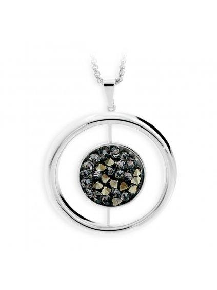 J61300468MLGLD Náhrdelník Space s kameny Swarovski® Metallic light gold
