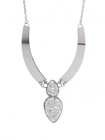 Náhrdelník Amulet s kameny Swarovski® Crystal AB