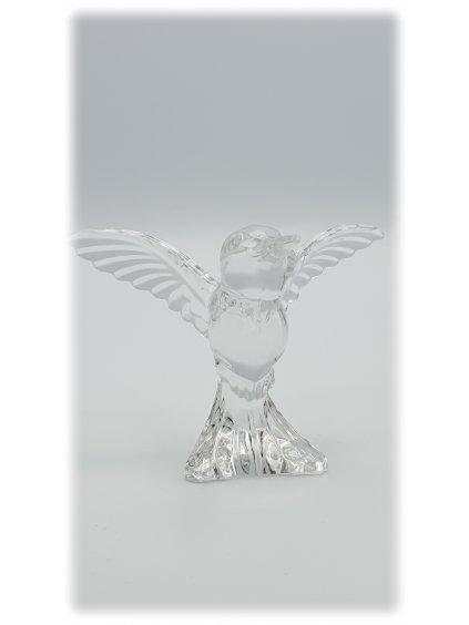 Skleněný Kolibřík z olovnatého křišťálu