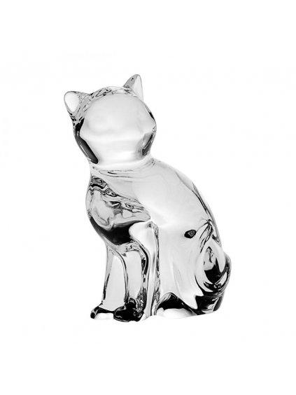 Skleněná kočka z olovnatého křišťálu P74869 58900 066