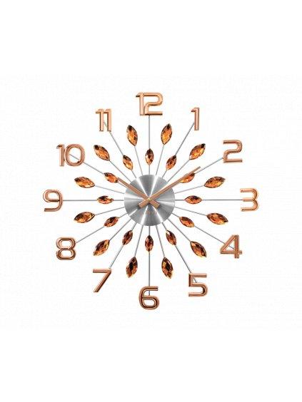 Nástěnné hodiny Kapky s čísly Gold 170092g