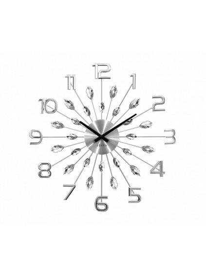 Nástěnné hodiny Kapky s čísly Silver 170092s