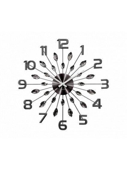 Nástěnné hodiny Kapky s čísly Antracit 170092a