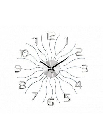 Nástěnné hodiny Vlnka Silver 170090s