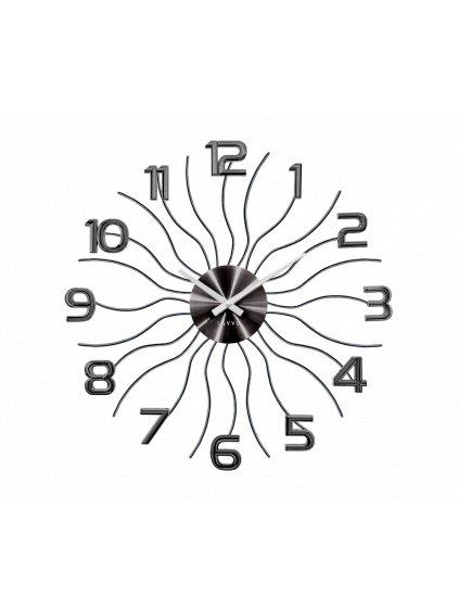 Nástěnné hodiny Vlnka Antracit 170090a
