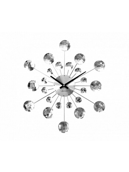 Nástěnné hodiny Zrcátka Silver 170089s