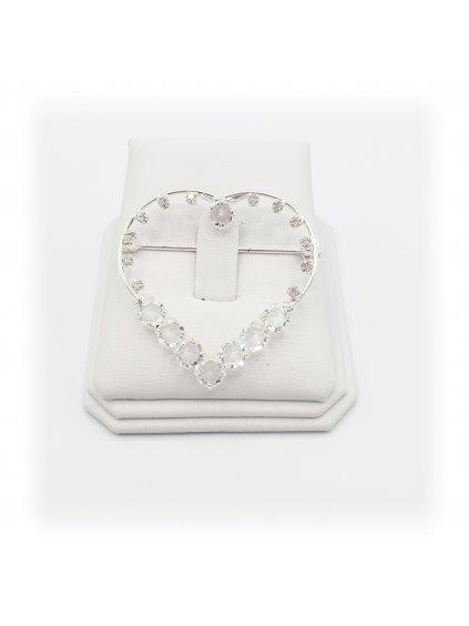 F924449 Šanelová brož Srdce