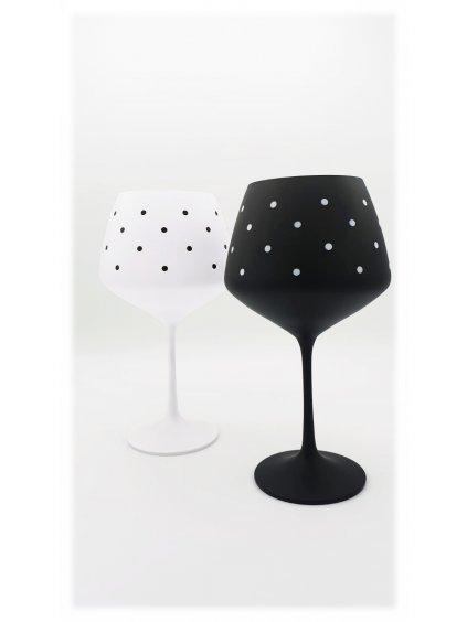 Sklenice na víno Giselle s puntíky, 2 ks