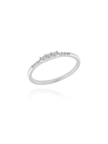 svlr0210xh2bi58Stříbrný prsten Osázený kroužek zirkony
