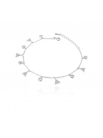 SVLB261SH2BI17Stříbrný náramek Trojúhelníčky a zirkony