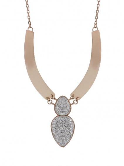 J61300471RG Náhrdelník Amulet s kameny Swarovski® Rose Gold