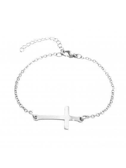 J61500907sOcelový náramek Křížek