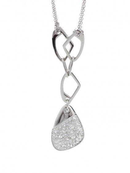 J61300474crOcelový náhrdelník Specific 3 s kameny Swarovski® Crystal