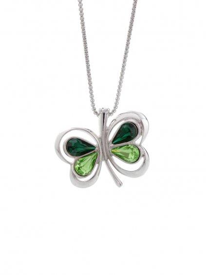Náhrdelník Motýl s kameny Swarovski® Peridot