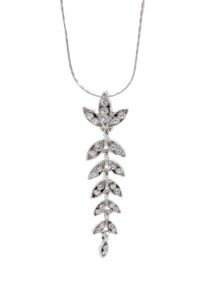 Náhrdelník Lístečky s kameny Swarovski® Crystal