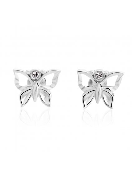 1369 1 nausnice s kameny swarovski motylci mini