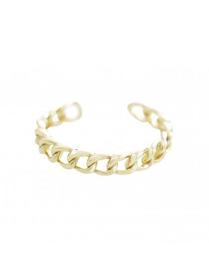 J92700375gStříbrný prsten Řetěz gold
