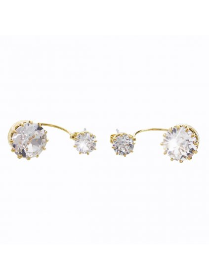 61400311g (1) Náušnice Gema Swarovski® Crystal Gold