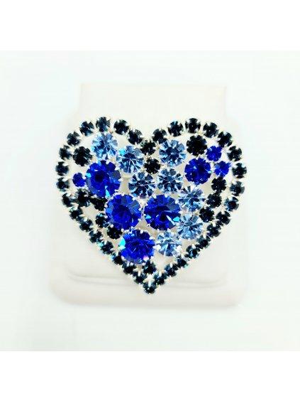 F925198agBrož Srdce velké blue