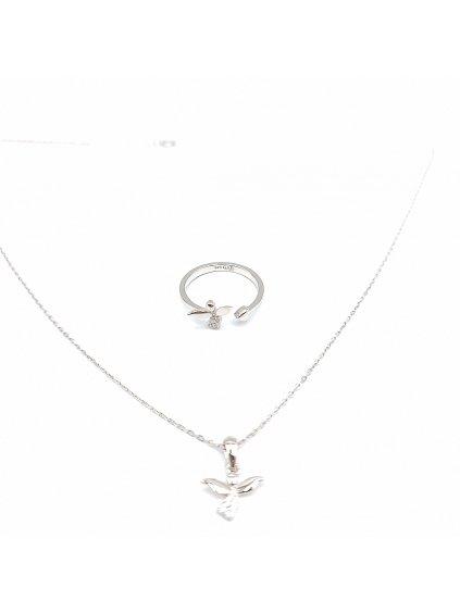 Stříbrný prsten Andílci mini se zirkonyJ92700435cr