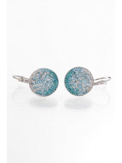 Náušnice Kolečko s kameny Swarovski® Aquamarine