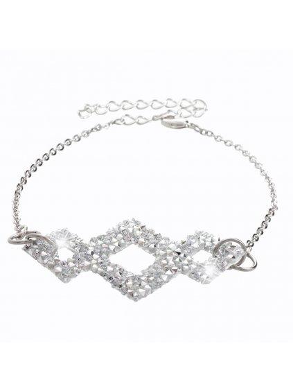 Náramek Triplekos s kameny Swarovski® Crystal