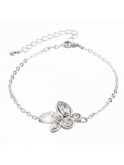 Náramek Kytička s kameny Swarovski® Crystal