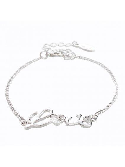 Náramek Love s kameny Swarovski® Crystal
