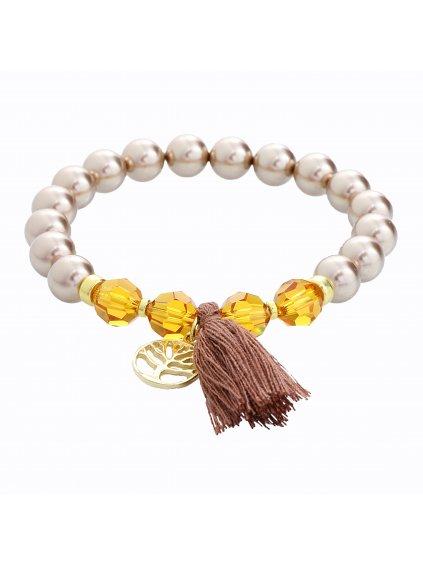 Stříbrný náramek s perlami Swarovski® components I.