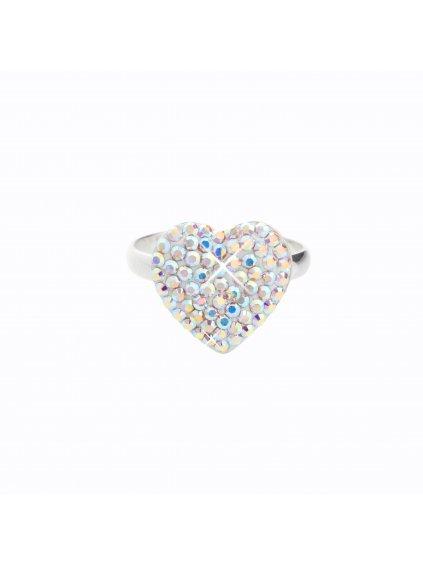 J91700663ABStříbrný prsten Srdce I. Swarovski® components