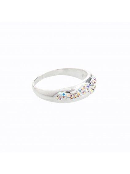 Stříbrný prsten s křišťálky Swarovski® components II.