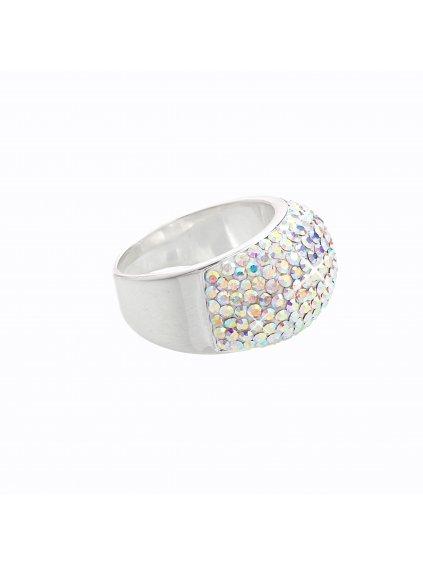 Stříbrný prsten s křišťálky Swarovski® components IV.