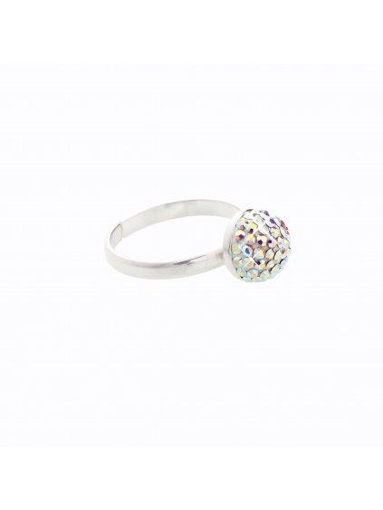 J91708661AB Stříbrný prsten Swarovski® components Půlkulička I.