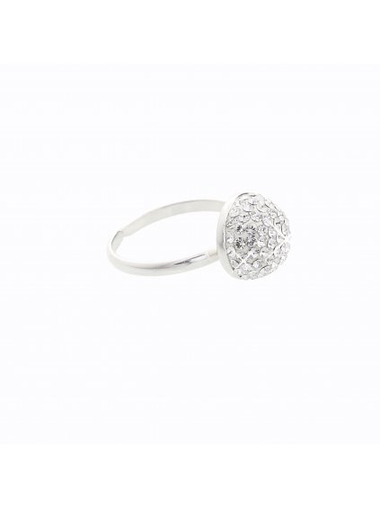 J91710661CR Stříbrný prsten Swarovski® components Půlkulička II.