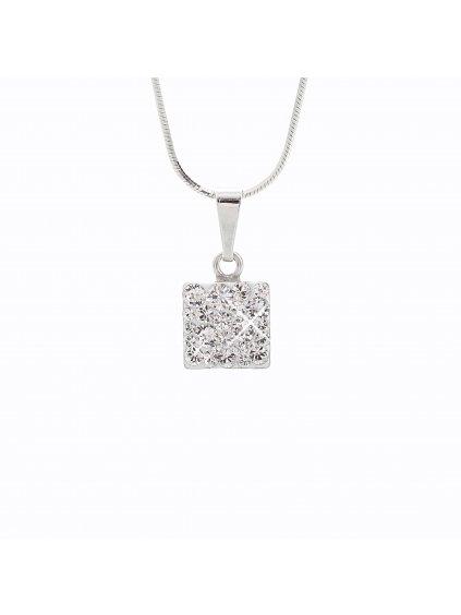 J92300020CR Náhrdelník stříbrný Square I. Swarovski® components