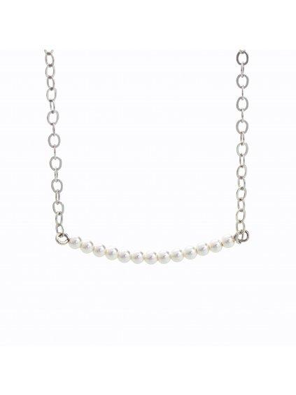 J92300096WH Stříbrný náhrdelník s perličkami Swarovski® components I.