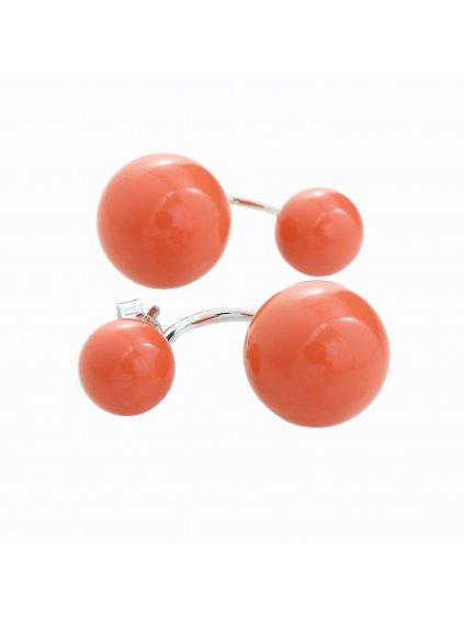 Stříbrné náušnice s perlou Swarovski® components V.
