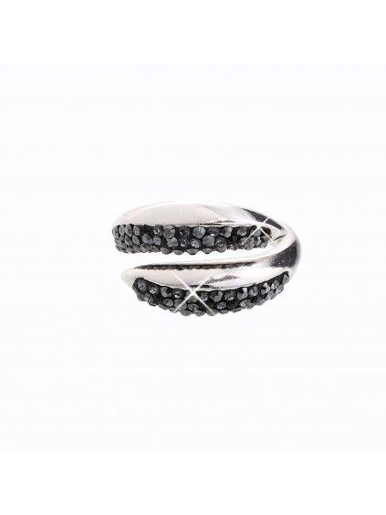 J92700031JET Stříbrný prsten Swarovski® components I.