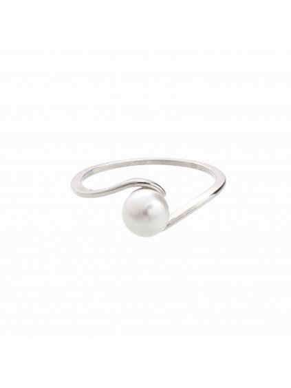 J92700049WH Stříbrný prstýnek s perličkou Swarovski® components I.