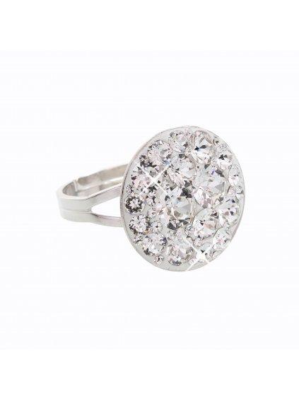 J92700074CR Stříbrný prstýnek Swarovski® components Round IV.