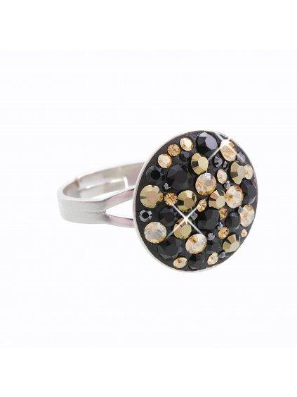 J92700074MIXJET Stříbrný prstýnek Swarovski® components Round IV.