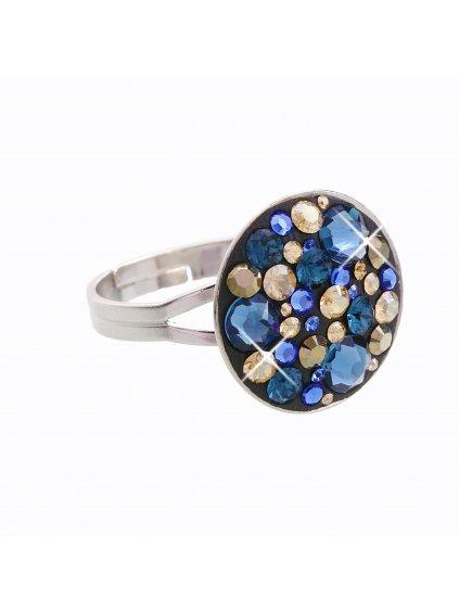 J92700074MO Stříbrný prstýnek Swarovski® components Round IV.