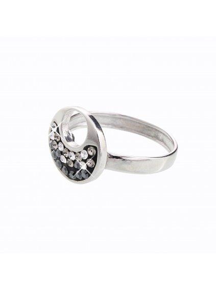 J92700085JET Stříbrný prstýnek Swarovski® components XII.