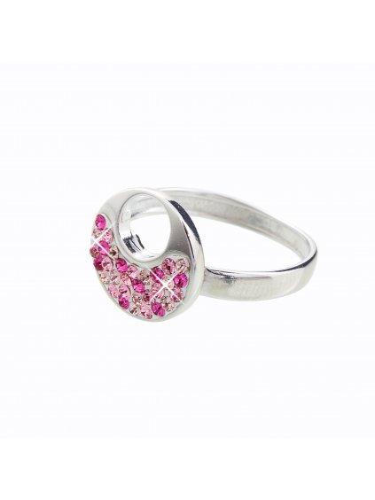 J92700085RO Stříbrný prstýnek Swarovski® components XII.