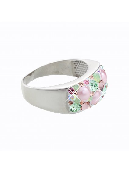 J92700088MULTI Stříbrný prsten Swarovski® components XIII.
